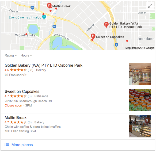 Google Local 3 Pack Snippet