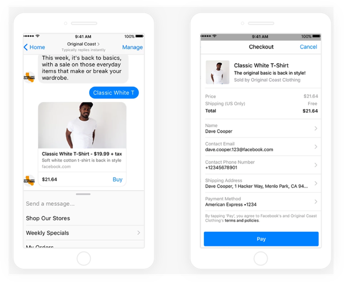 Facebook Messenger Pay Function